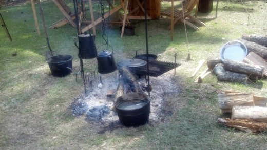 Apparently, this was an Army kitchen when the troops were in the field in the early 1860's.