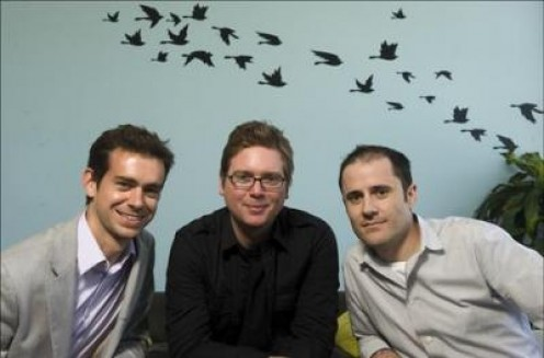 The three founders of Twitter.
