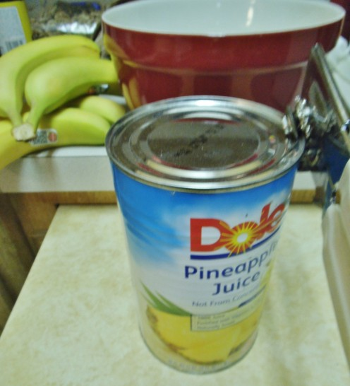 Pineapple juice keeps bananas from turning brown.