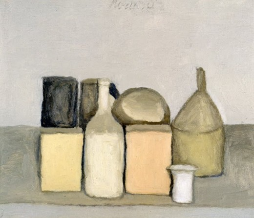"Giorgio Morandi, ''Natura Morta, 1955,"" oil on canvas"