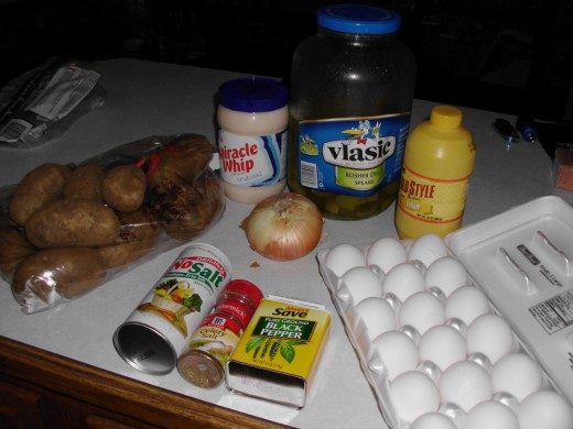 Potato Salad Ingredients
