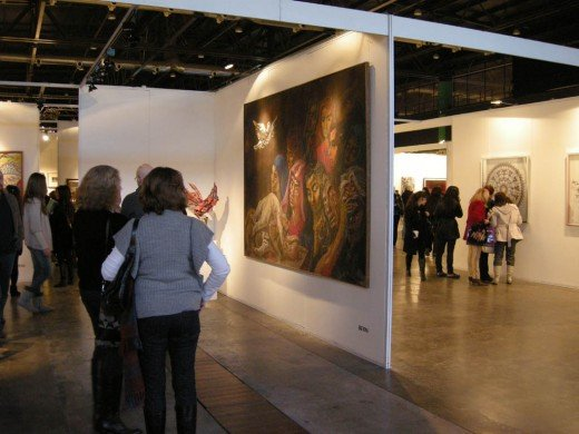 Browsing at BArte, a fine art fair in Buenos Aires, Argentina