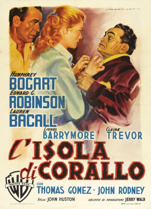 Key Largo (1948) Italian poster