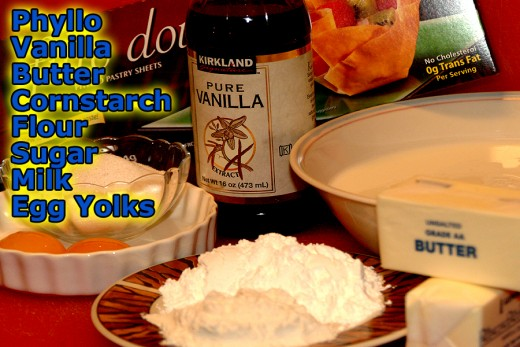 Simple ingredients make this vanilla custard filled dessert!