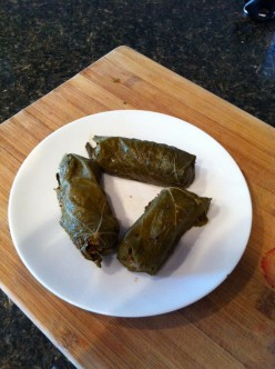 Lowfat Stuffed Grape Leaves (Dolmas)