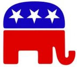 GOP Elephant with 3 pentagrams
