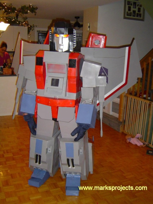 These are fun for about 5 minutes, and then you're like...okay, Megatron disassemble for pee/drink break... Again, try walking through a bar with this on, or trick or treating 10 blocks...hello full body cramp attack..