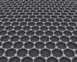 Graphene is an atomic-scale honeycomb lattice made of carbon atoms.