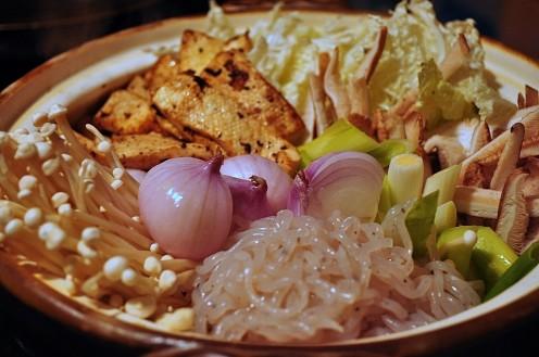 Shirataki Noodles in Sukiyaki