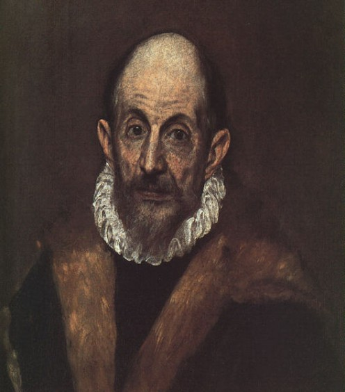 Self-portrait painted by El Greco.