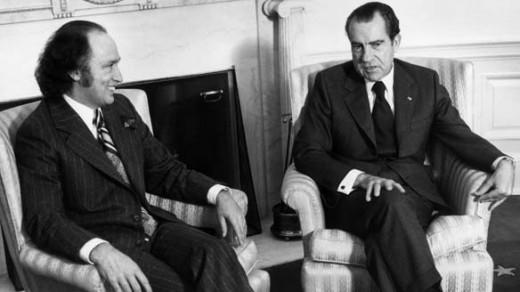 Pierre E. Trudeau & Richard M. Nixon