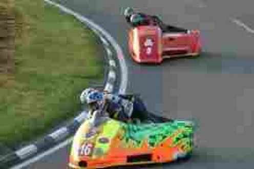 Sidecar races provide thrills