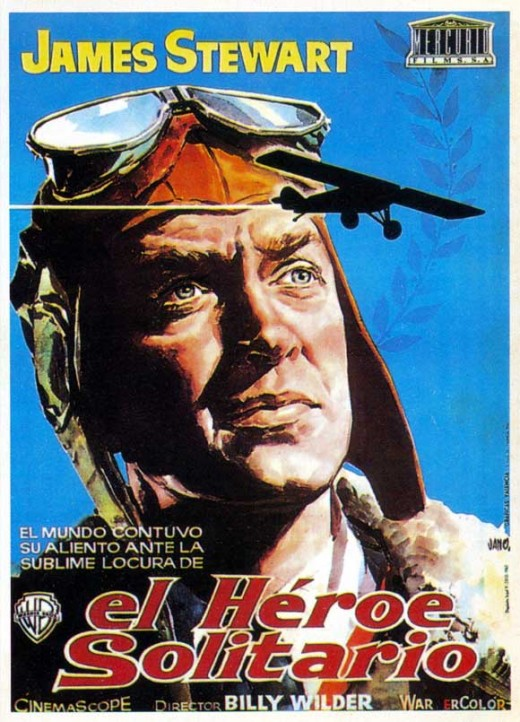 The Spirit of St. Louis (1956) Spanish poster