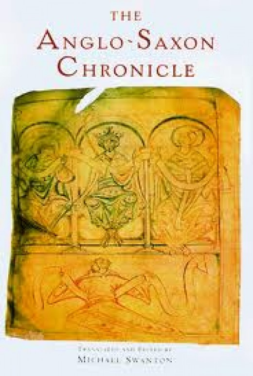Saxon Chronicle illumination on Michael Swanton's book cover