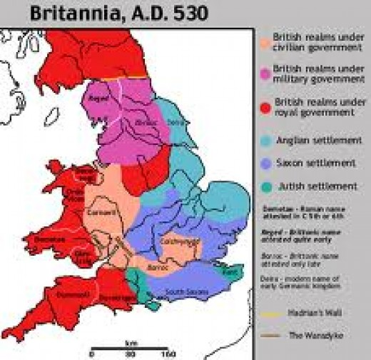 Gildas' Britain. As a Gallo-Celt, Gildas' view of the Angles' and Saxons' influx was subjective and often erroneous. Bede is still the best reference