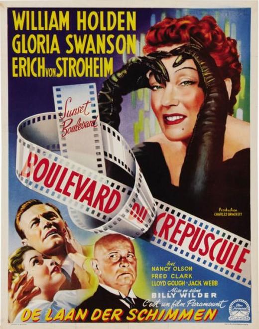 Sunset Boulevard (1950) Belgium poster