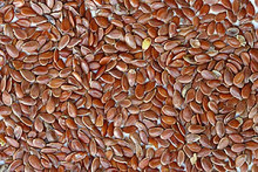 Brown flax or linseeds