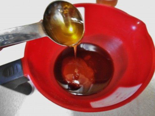 Honey incorporates well with other wet ingredients, but you can use brown or white sugar in place of honey.