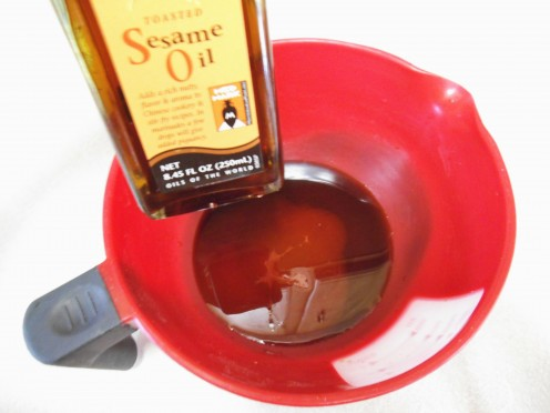Toasted Sesame oil is so flavorful, you only need a little.