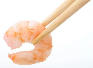 Brown shrimp has 147mg of purines in each 100g serving.