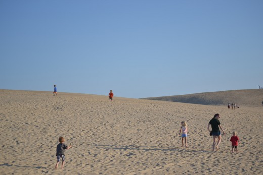 Exploring the Sand Dunes in the Jockey's Ridge State Park Outer Banks