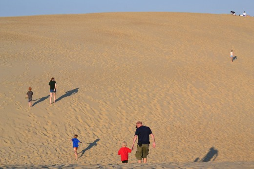 Running up the Largest Sand Dunes at Jockey's Ridge State Park