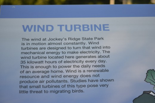 Information the the Wind Turbines at Jockey's Ridge State Park