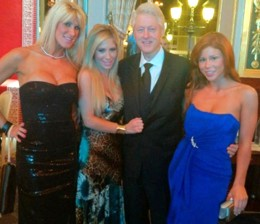 Bill Clinton with porn stars Tasha Reign and Brooklyn Lee