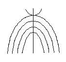 The Anjiru clan symbol of the Kikuyu. It resembles the symbol of wineskins in hieroglyphics