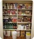 Pantry Stockpiled With Food
