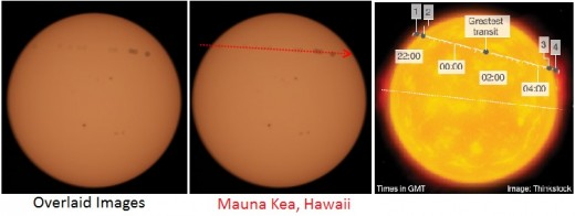 Some rather bad graphics from the observatory in Hawaii showing just how far off their prediction was.