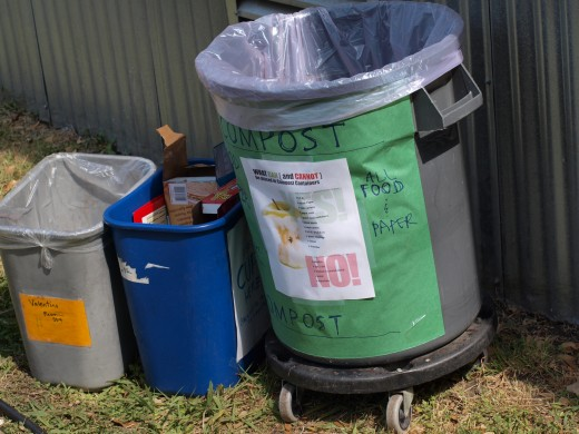 Be sure to place landfill trash, recycling, and (if your school offers it) composting containers at each waste station.