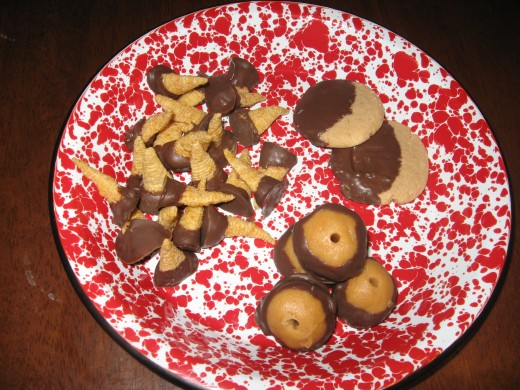 Some of my sweet party finger foods.