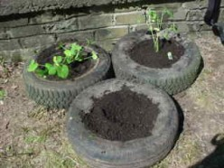 How to make a Garden out of used Tires