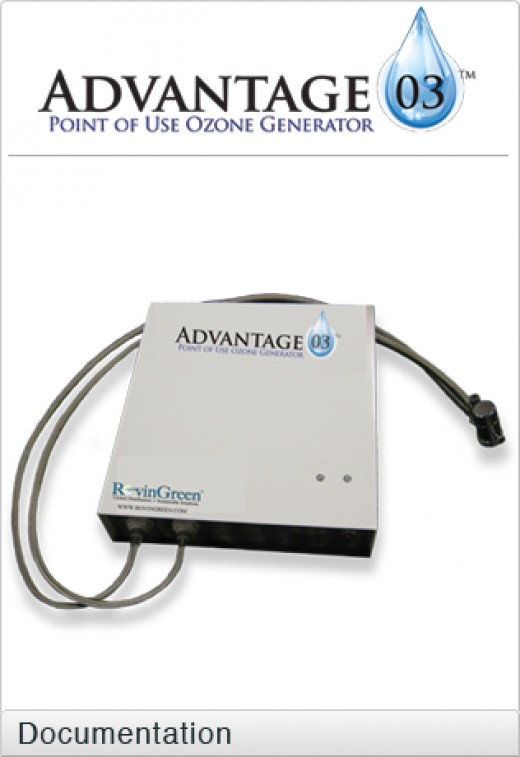 Point of use ozone generator - small and compact, great for home food sanitizing and also provide the purest water with ozone regulated by smart technology and carbon filters