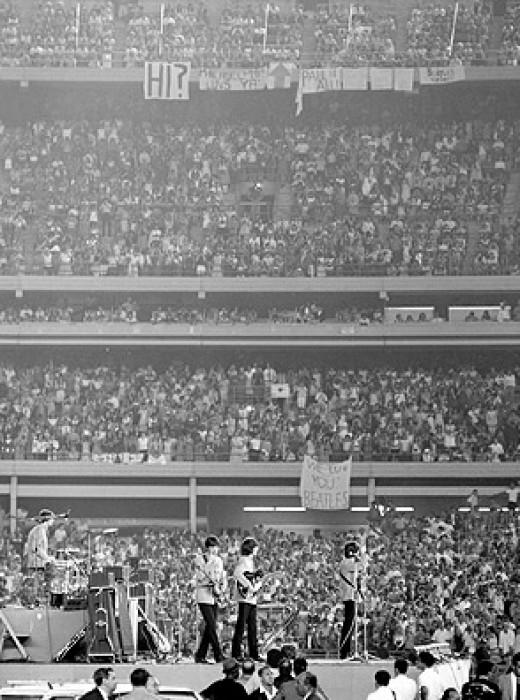 The Shea Stadium 56000 fans in NY, 1965
