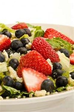 Sweet Strawberry and Blueberry salad