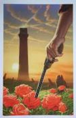 Approaching the Dark Tower through the field of roses