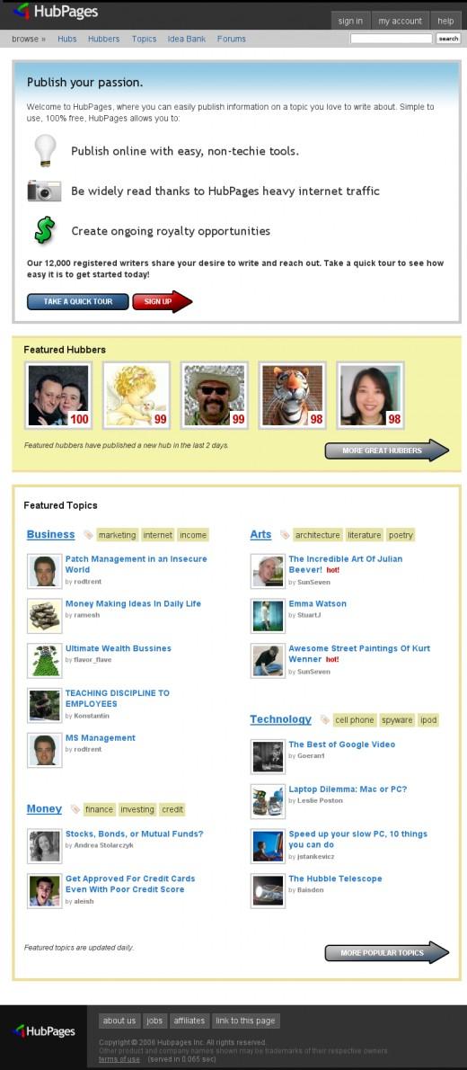 HubPages.com on April 29th, 2007
