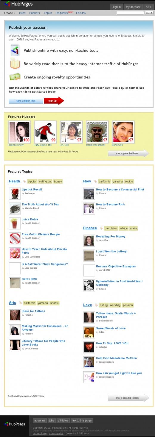 HubPages.com on October 26th, 2007
