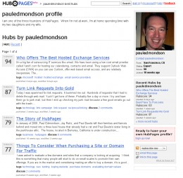 Paul Edmondson's HubPages profile, August 29, 2006