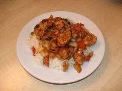 Kung Pau Chicken with Rice
