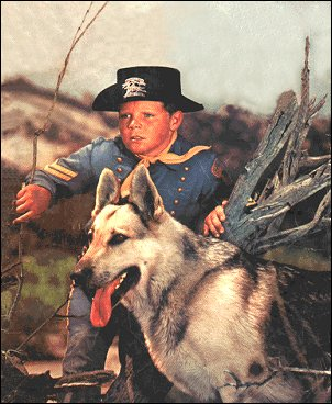 Rin Tin Tin was named after a puppet  called Rintintin, which a French child gave to American soldier Lee Duncan  during WW1 for good luck.