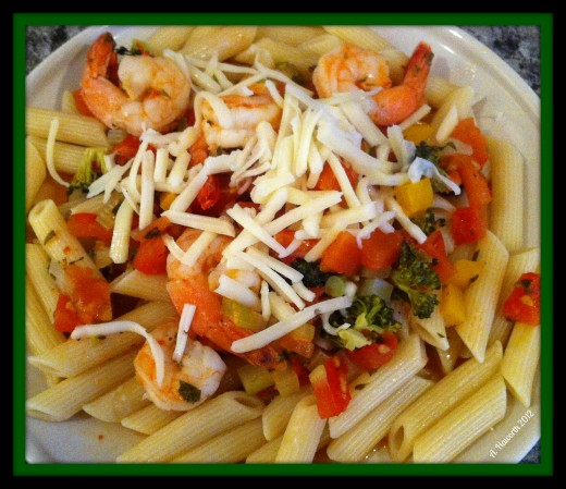 Penne Bruschetta with Shrimp
