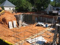 Building concrete work