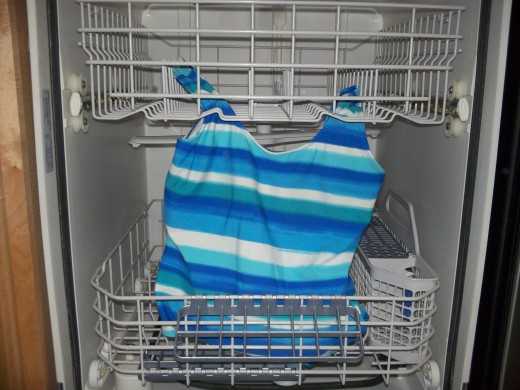 Don't hang your bathing suit to dry in the dishwasher.