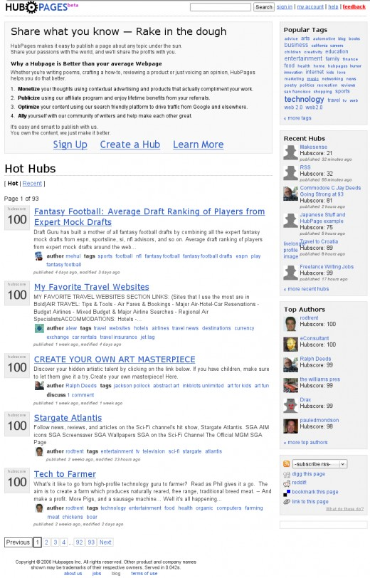 HubPages.com on August 27th, 2006