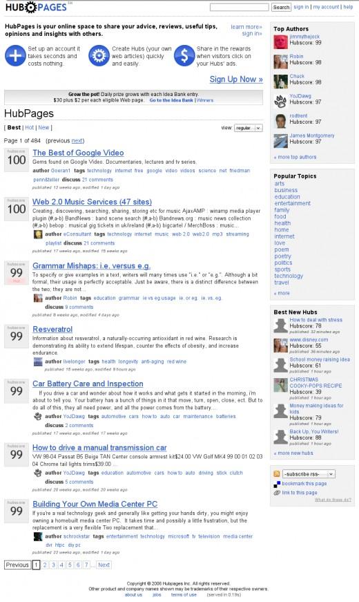 HubPages.com on December 5th, 2006