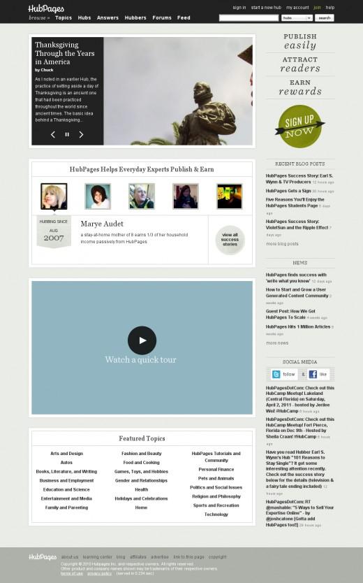HubPages.com on November 25th, 2010