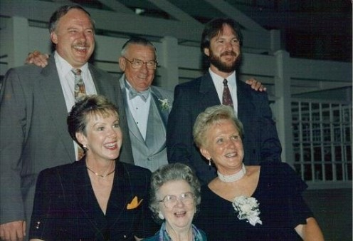 His family..Uncle Joe, Bumpa, Uncle Jim, Aunt Jan, Nan, and Mom